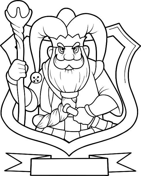 gnome mit king-size-bett - gartendekorationen stock-grafiken, -clipart, -cartoons und -symbole
