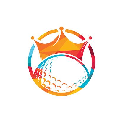 King golf vector logo design.