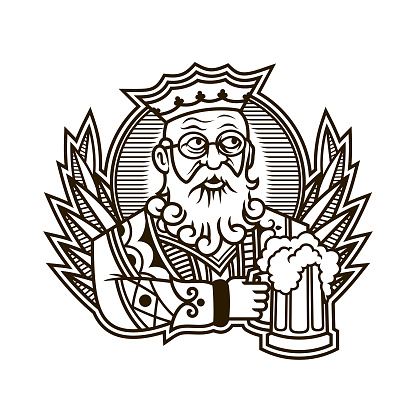 King Holding A Mug Of Beer King Of Clubs Character In
