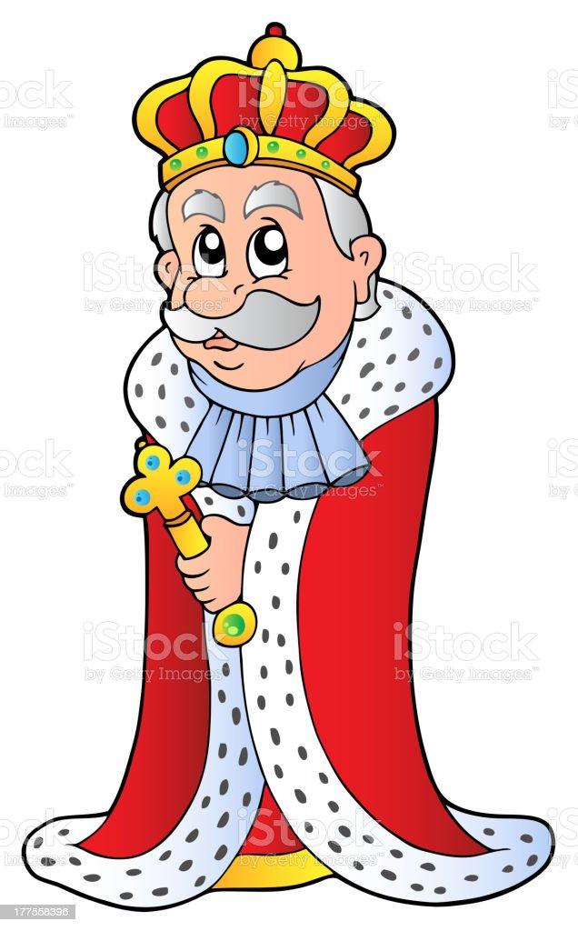 King holding sceptre royalty-free stock vector art