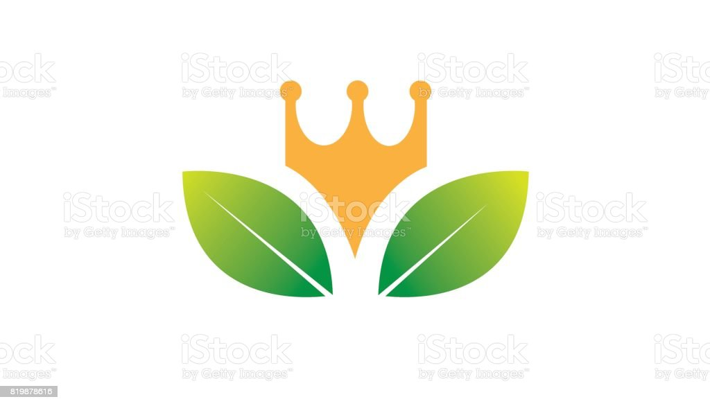King Leaves Crown Symbol Design Stock Vector Art More Images Of