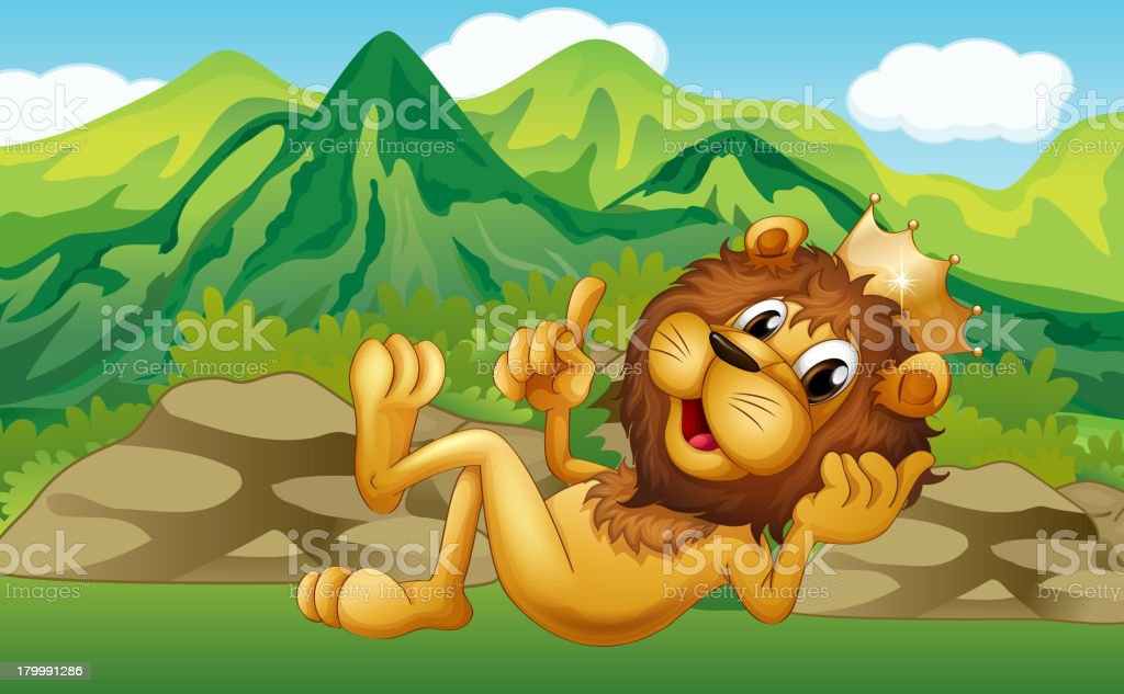 King lion across the mountain royalty-free king lion across the mountain stock vector art & more images of animal