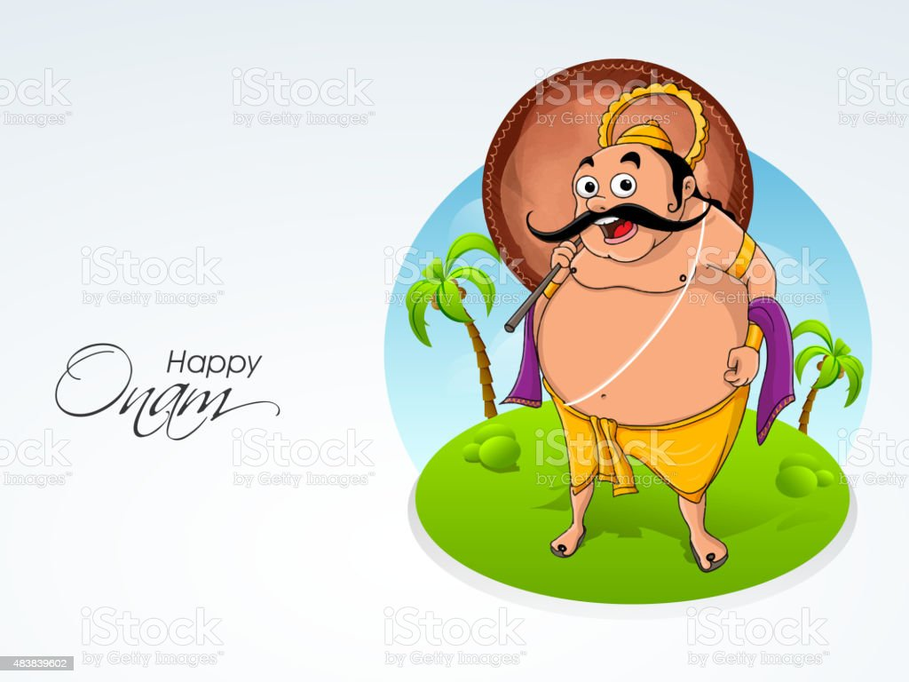King Mahabali For Happy Onam Celebration Stock Vector Art More