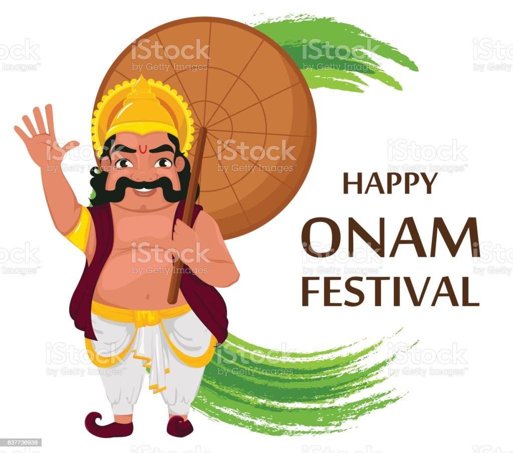 King Mahabali Happy Onam Festival In Kerala Stock Vector Art More