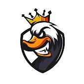 King of Animal mascot logo design with modern illustration concept style for badge, emblem and t shirt printing. Angry animal illustration for sport and e-sport team.