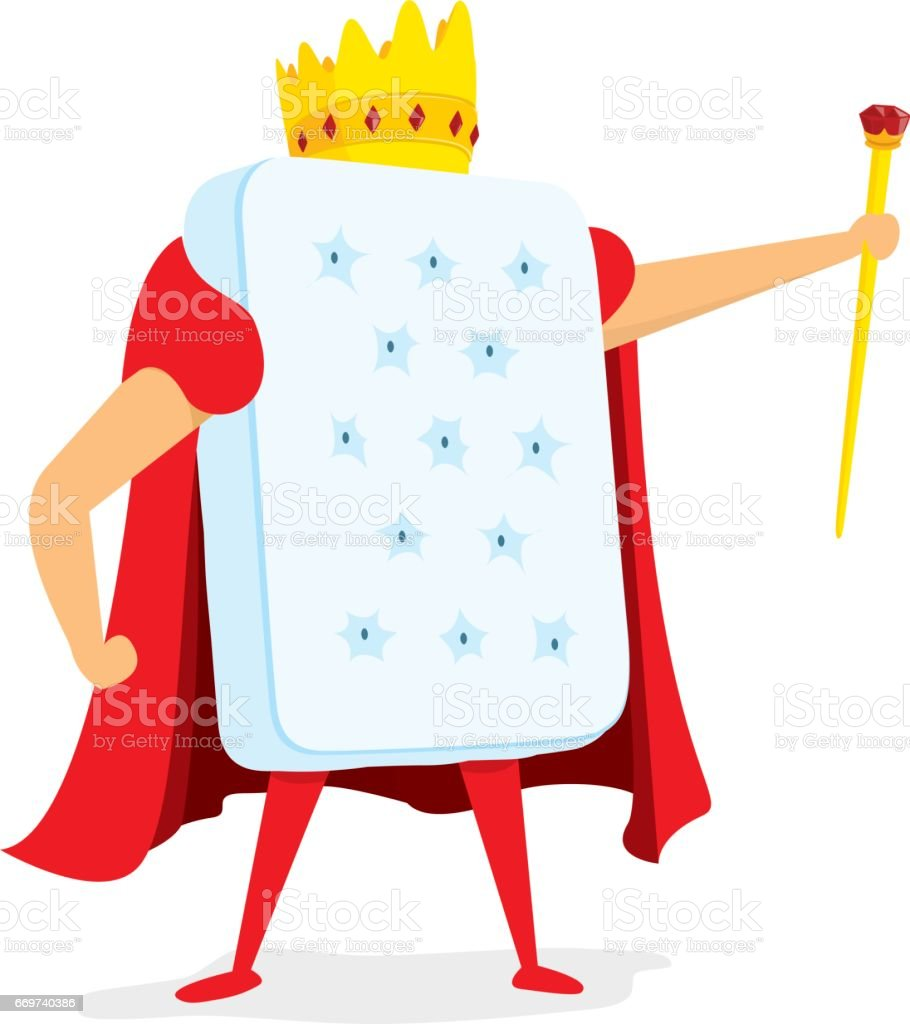 King of brains with crown and scepter vector art illustration