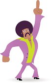 istock King of Disco, Dancing Man,1970s styled dude points upward 165674166