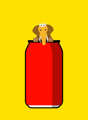 king of elephant on the coke bottle