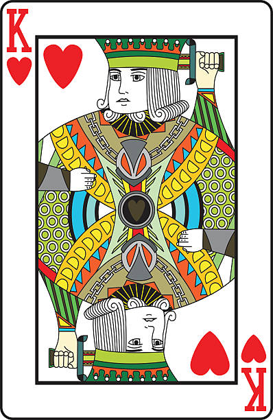 Best King Of Hearts Illustrations, Royalty-Free Vector ...