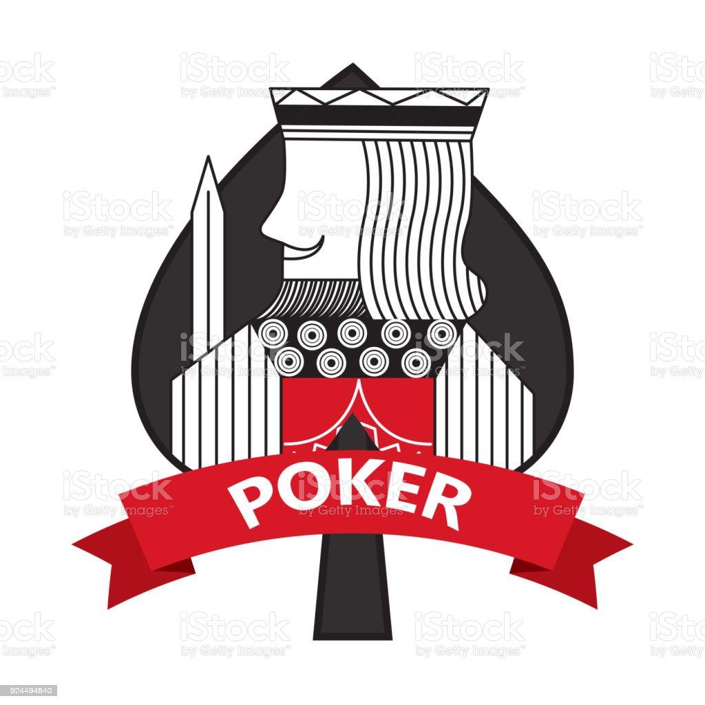 King of spades card poker ribbon symbol stock vector art more king of spades card poker ribbon symbol royalty free king of spades card poker ribbon biocorpaavc Choice Image