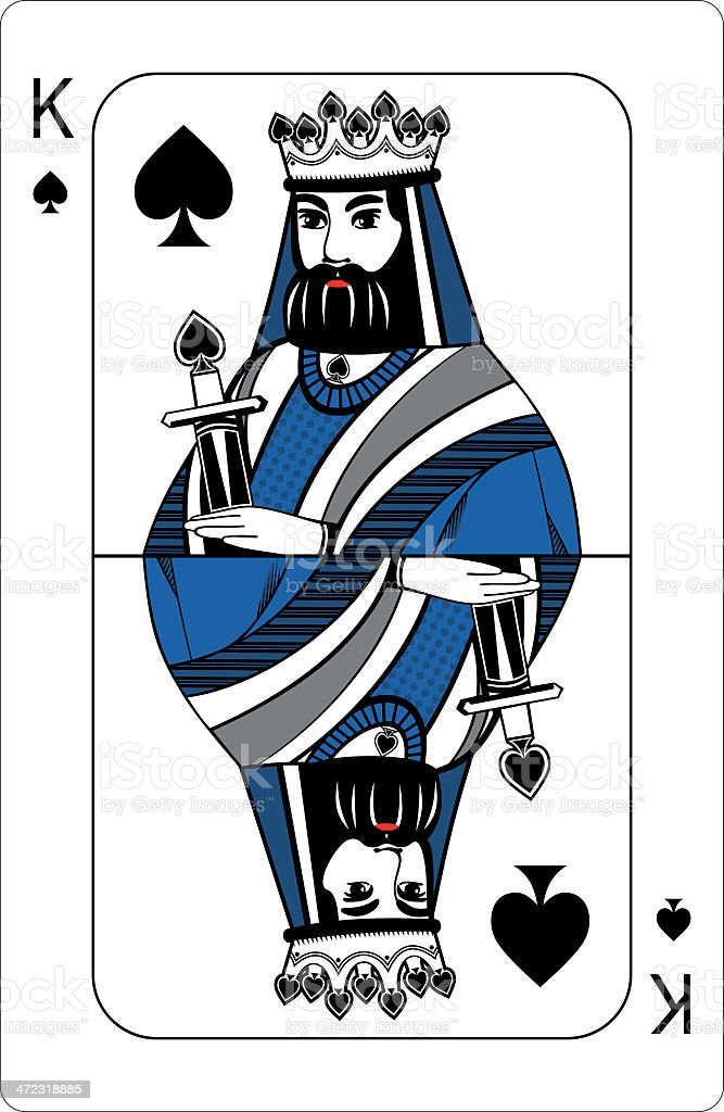 King of spades Playing card royalty-free stock vector art