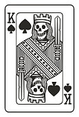 king of spades playing card