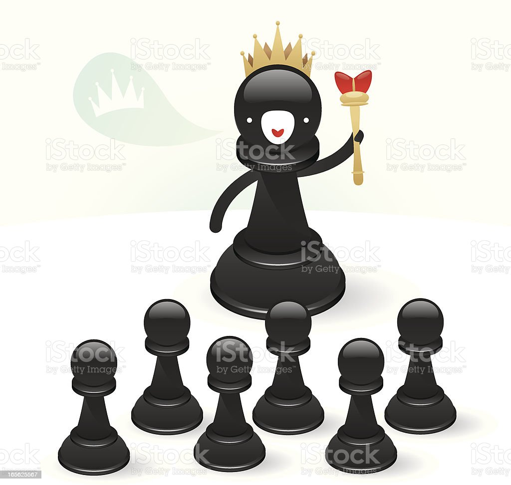 King of the chess royalty-free stock vector art