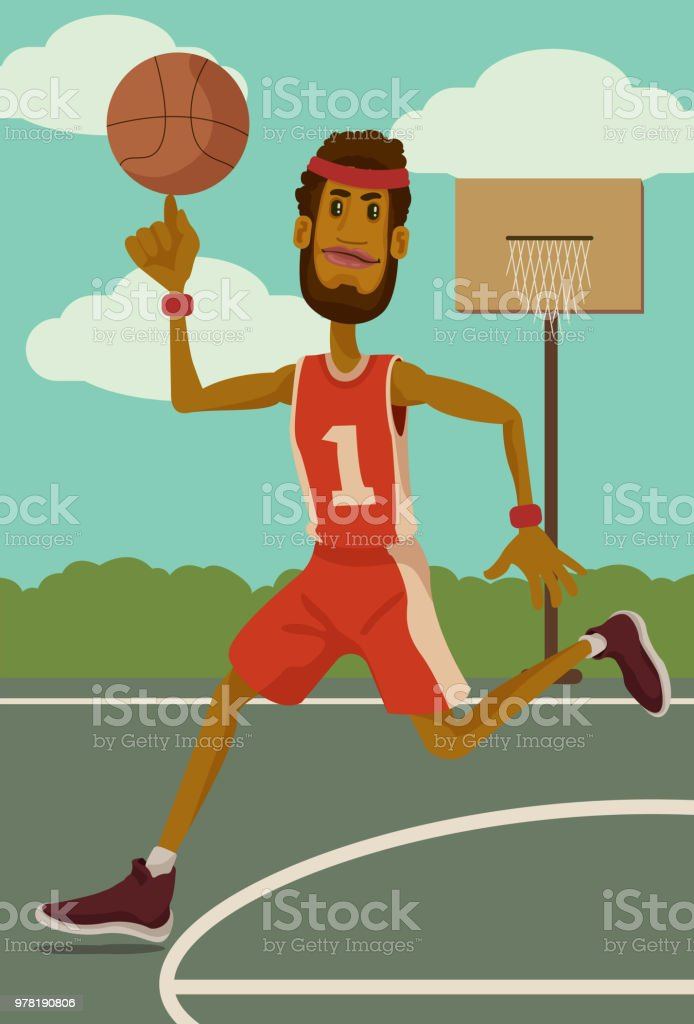 King of the Court vector art illustration
