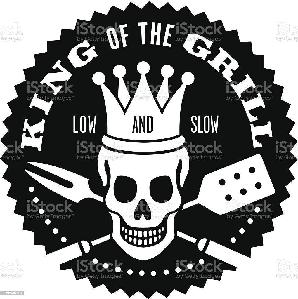 King of the Grill Barbecue Logo royalty-free stock vector art