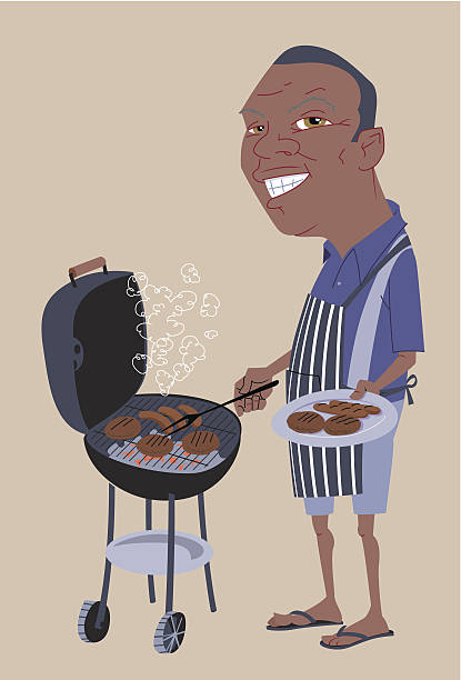 King of the Grill vector art illustration