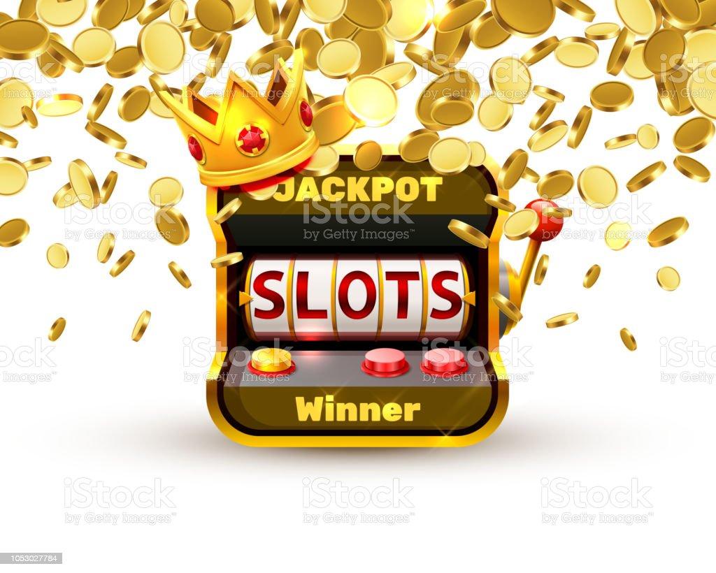 King slots 777 banner casino. vector art illustration