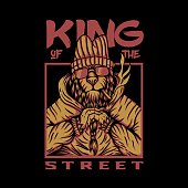 king street lion vector design for your company or brand