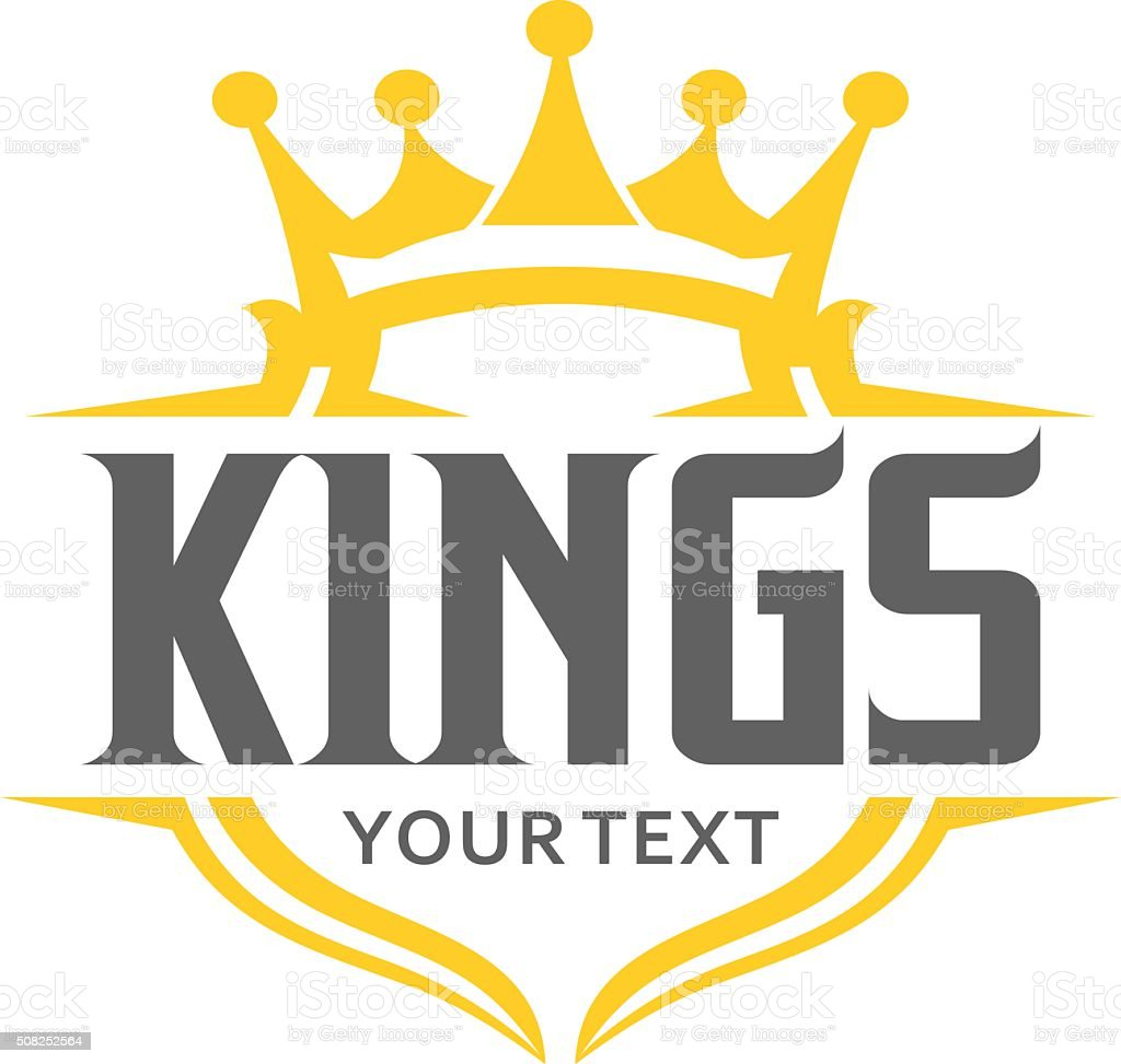 King typography emblem