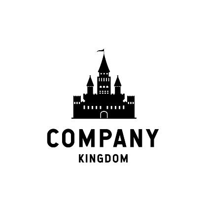 Kingdom  design with silhouette castle illustration