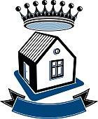 Kingdom idea, imperial blazon with stylish dimensional crown
