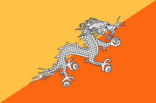Kingdom of Bhutan Flag