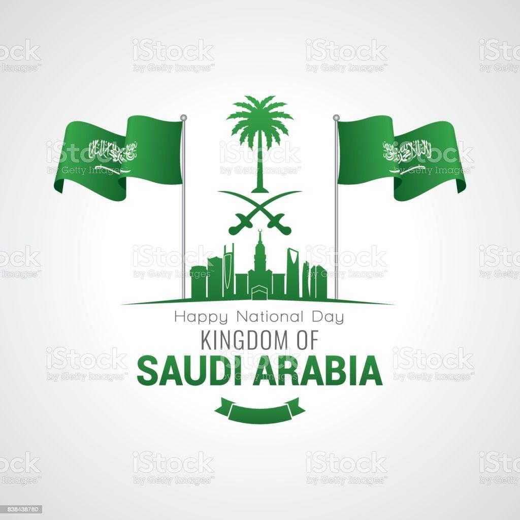 Kingdom of Saudi Arabia National Day vector art illustration