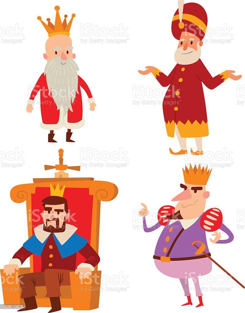 Kings Cartoon Vector Set Stock Vector Art & More Images of ...