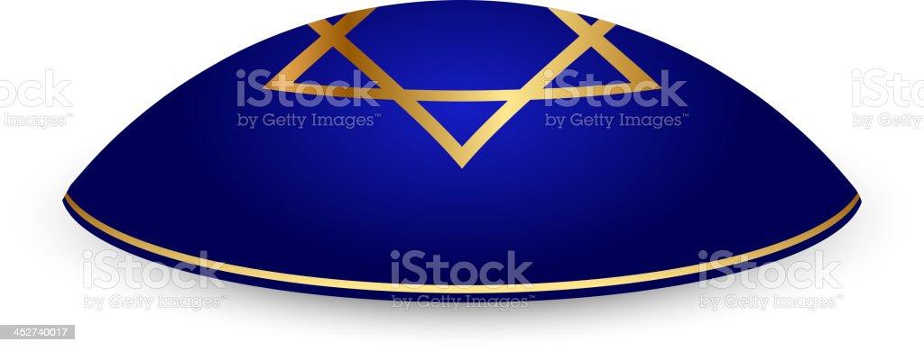 Kippah with David star royalty-free stock vector art