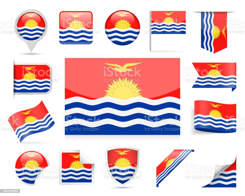 kiribati flag vector set stock vector art more images of award rh istockphoto com flag vector graphics flag vectors free