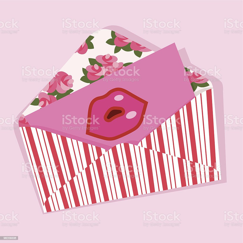 Kiss Letter. royalty-free kiss letter stock vector art & more images of adult