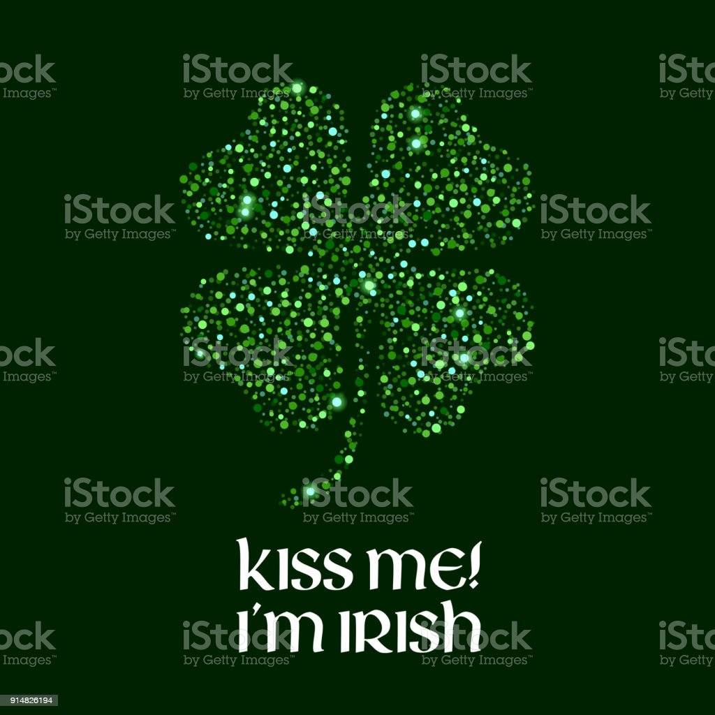 Kiss Me Im Irish Message Illustration Stock Vector Art More Images