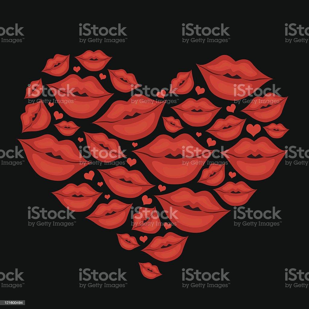 kiss me royalty-free stock vector art