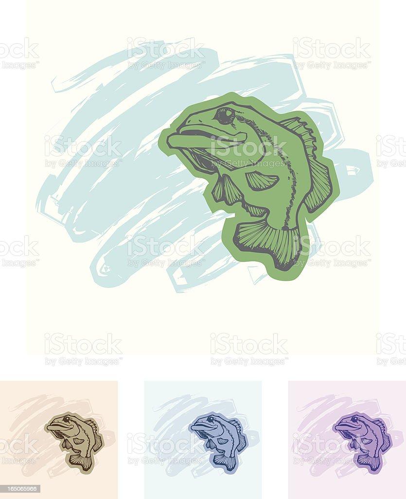 Kiss My Bass vector art illustration