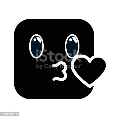 Kissing Face Emoji Character Stock Vector Art More Images Of