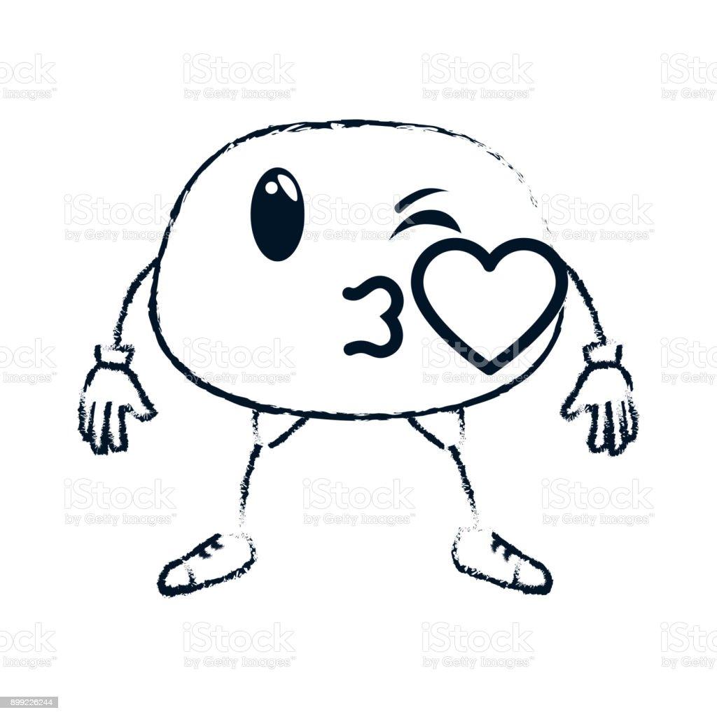 Kissing Face Emoji Character Stock Vector Art 899226244 Istock