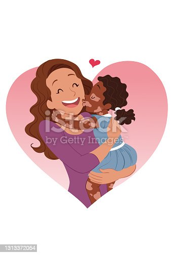 istock Kissing mom with love 1313372054