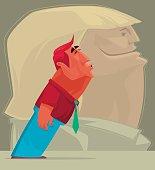 vector illustration of man kissing….