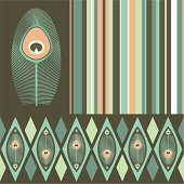 Kit of seamless patterns in pastel colours