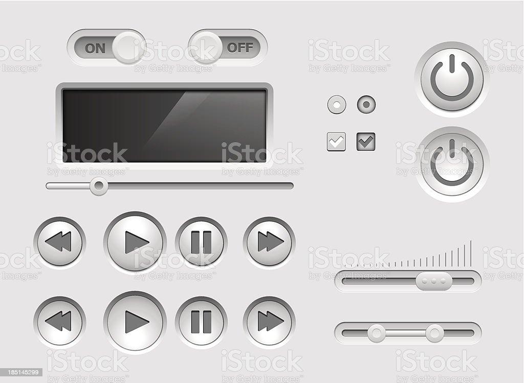 UI kit royalty-free stock vector art