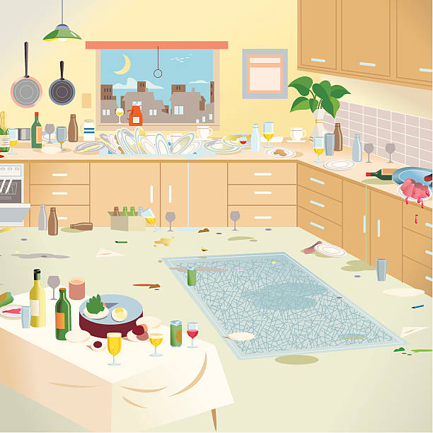 Messy Kitchen Design: Royalty Free Kitchen Mess Clip Art, Vector Images