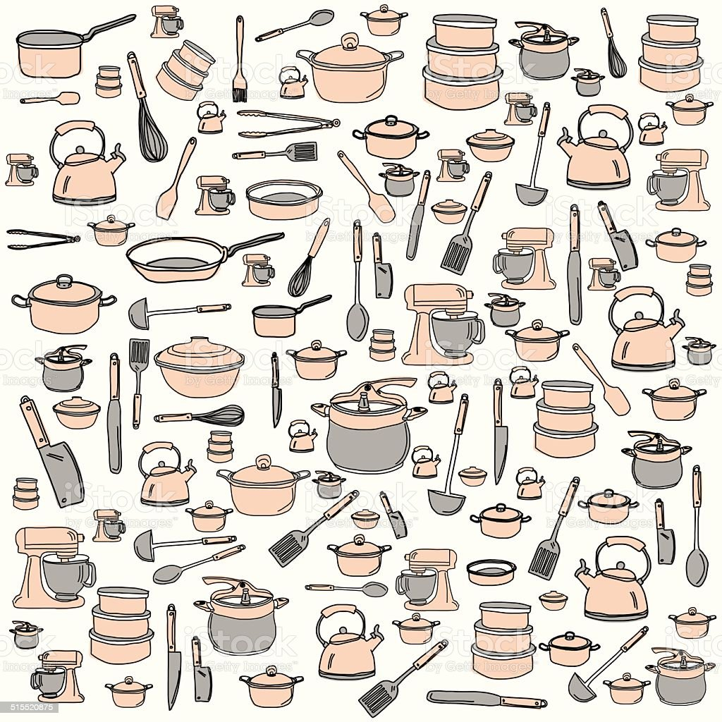 Kitchen And Cooking Accesorise Stock Vector Art  for Kitchen Wallpaper Clipart  45hul