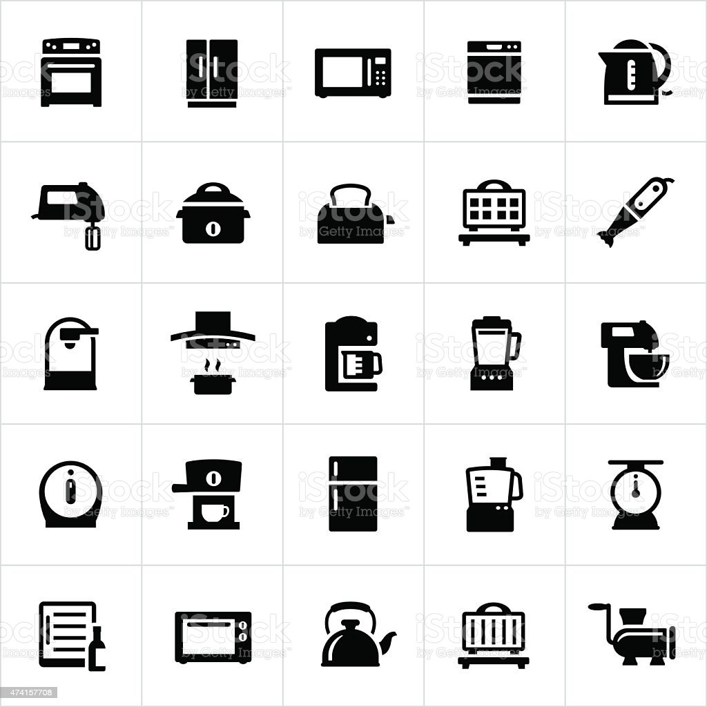 Kitchen and Cooking Appliances vector art illustration