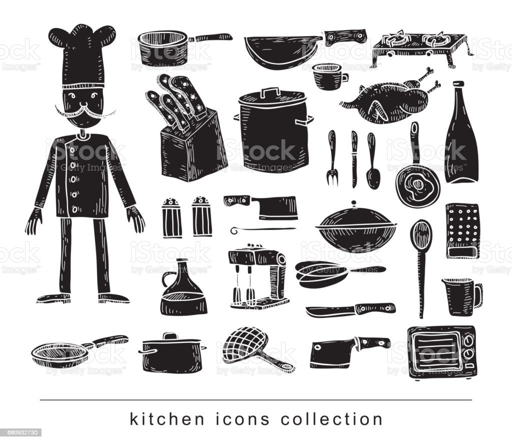 Kitchen and cooking elements royalty-free kitchen and cooking elements stock vector art & more images of art