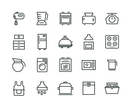 Kitchen Appliance Icon Set