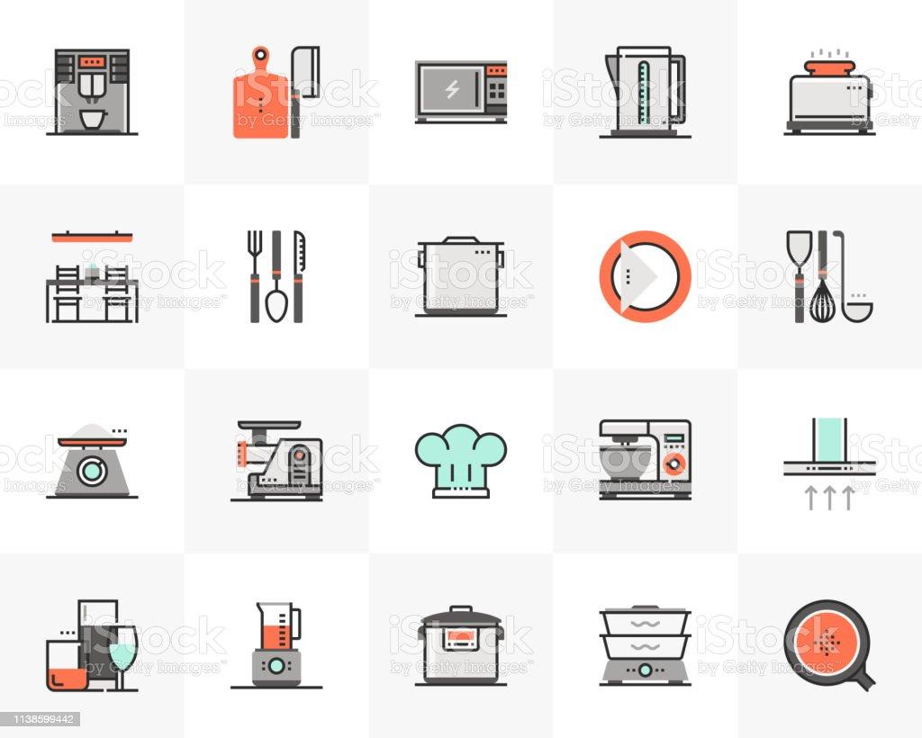 Kitchen Appliances Futuro Next Icons Pack Stock Illustration