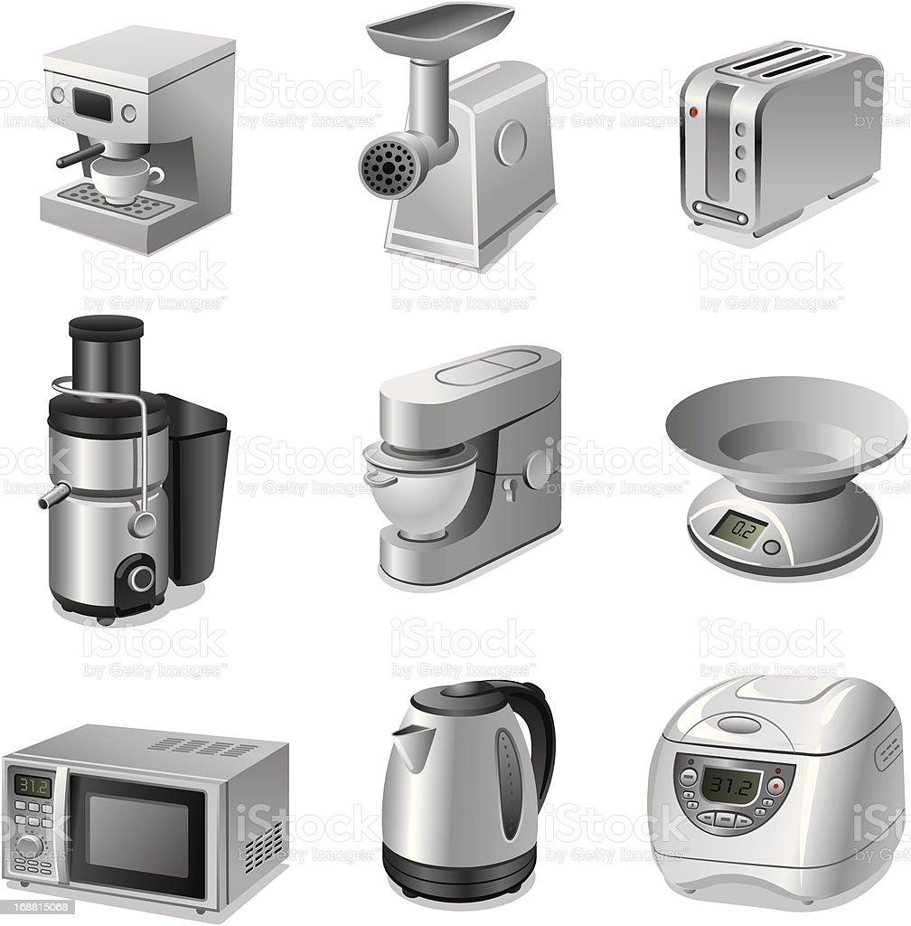 Küchengeräte Iconset Stock Vektor Art und mehr Bilder von Ausrüstung ...