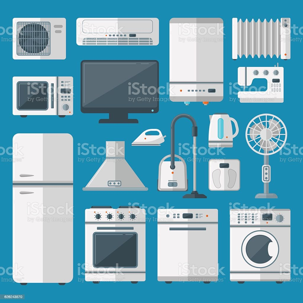 Kitchen Appliances Vector Set Stock Illustration Download