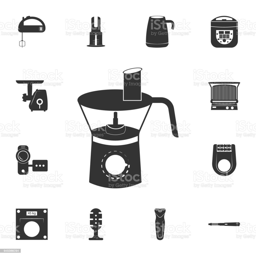 Kitchen Blender Icon Detailed Set Of Household Items Icons