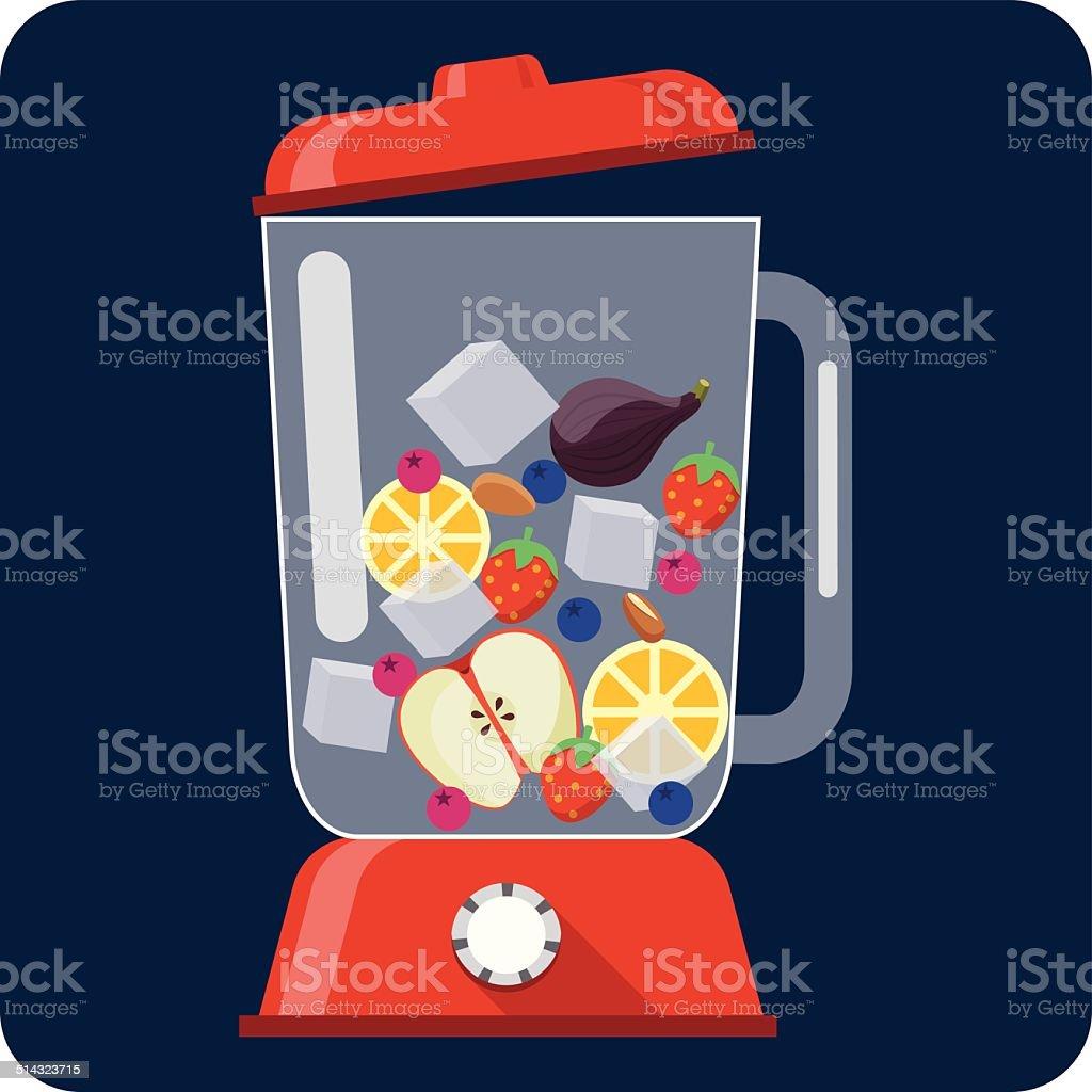 Kitchen Blender vector art illustration
